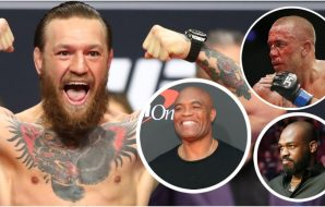 Conor McGregor bästa Anderson Silva Georges St-Pierre Jon Jones (© Mark J. Rebilas-USA TODAY Sports)
