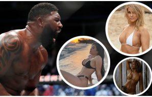 UFC sexikoner Curtis Blaydes Paige VanZant Rachael Ostovich (© Kamil Krzaczynski-USA TODAY Sports & Instagram)