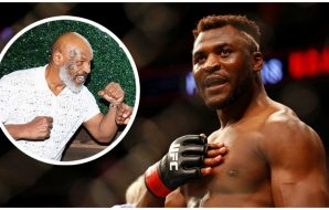 Francis Ngannou Mike Tyson (© David Berding-USA TODAY Sports)
