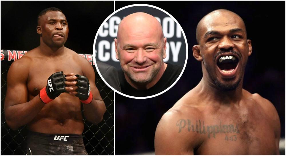 Jon Jones Francis Ngannou Dana White UFC MMA