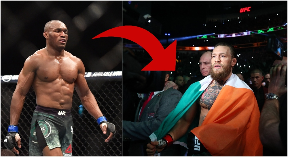 Kamaru Usman sa?gar Conor McGregor. _Hur kan man tacka nej till en titelfight. Foto: Jason da Silva, Mark J. Rebilas--USA TODAY Sports