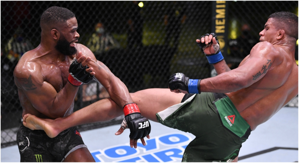 UFC Tyron Woodley Gilbert Burns resultat MMA
