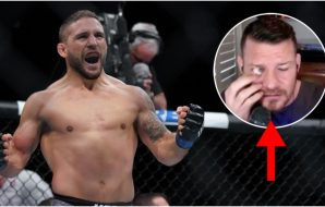 Chad Mendes Michael Bisping (© Kyle Terada-USA TODAY Sports)