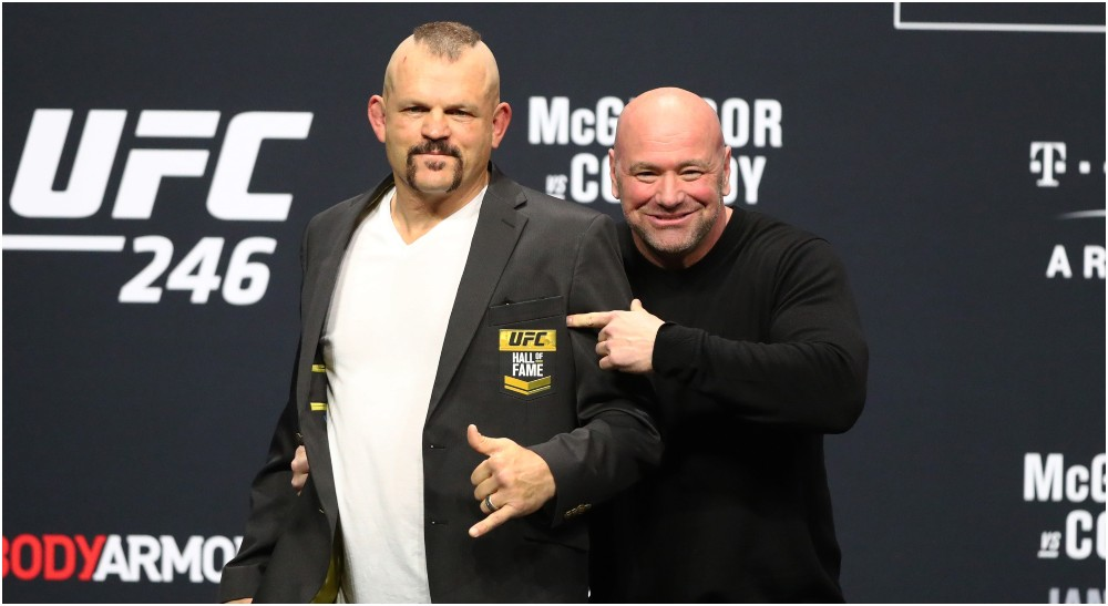 Chuck Liddell och Dana White (© Mark J. Rebilas-USA TODAY Sports)