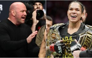 Dana White Amanda Nunes (© Stephen R. Sylvanie © Mark J. Rebilas-USA TODAY Sports)