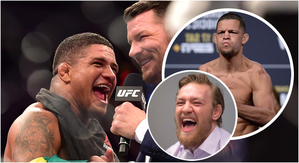 Gilbert Burns Nate Diaz Conor McGregor (© Jason Silva & ©Gary A. Vasquez-USA TODAY Sports)