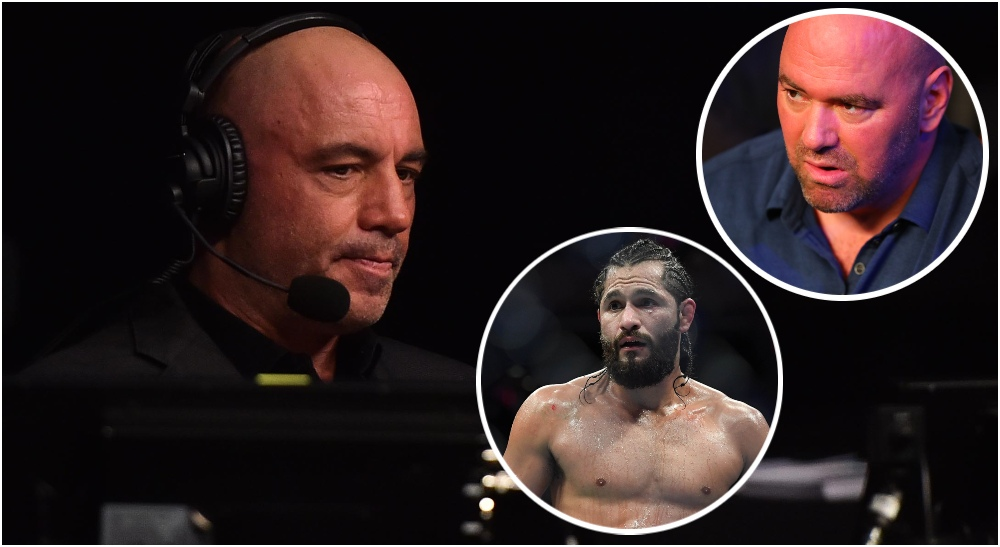 Joe Rogan Dana White Jorge Masvidal (© Sarah Stier & © Jasen Vinlove-USA TODAY Sports
