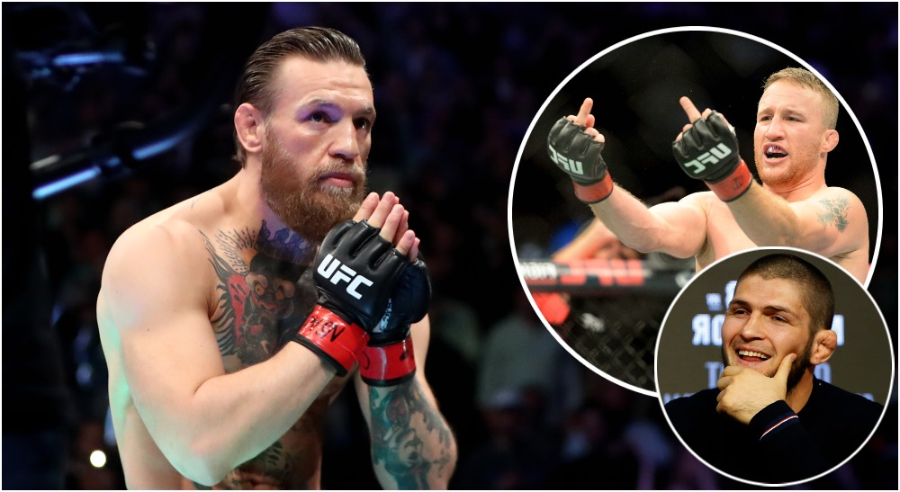 Justin Gaethje Conor McGregor Khabib Nurmagomedov (© Steven Branscombe © Mark J. R -USA TODAY Sports