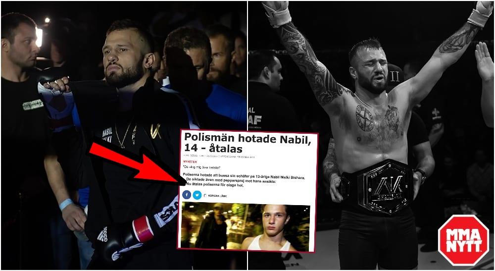 Nabbe Malki berättar om polistrakasserierna. Foto: Stefan Romare-MMAnytt