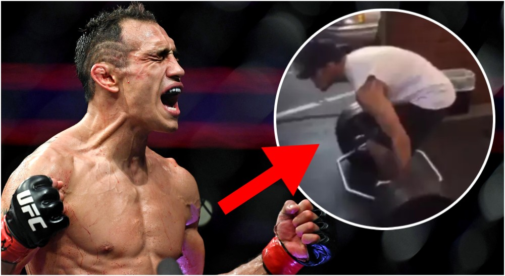 Tony Ferguson träningsvideo (© Stephen R. Sylvanie-USA TODAY Sports)