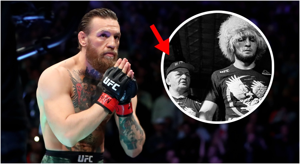 Conor McGregor Khabib Nurmagomedov Khabibs pappa Abdulmanap (© Mark J. Rebilas-USA TODAY Sports)