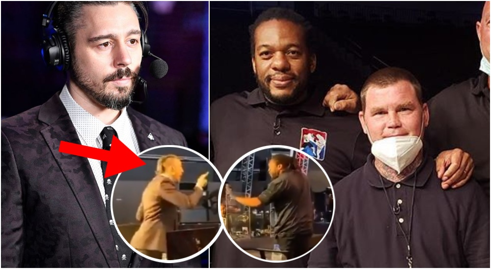 Dan Hardy & Herb Dean (Photo: Jeff Botari & @HerbDeanMMA