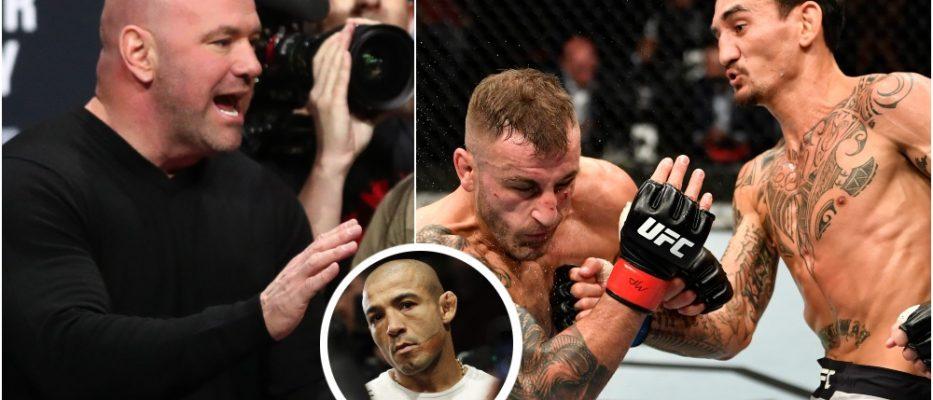 Dana White UFC 251 Jose Aldo Max Holloway (© Mark J. Rebilas & © Handout Photo-USA TODAY Sports)