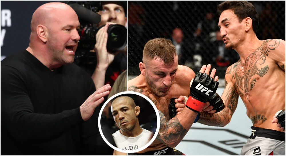 Dana White UFC 251 Jose Aldo Max Holloway (© Mark J. Rebilas & © Handout Photo-USA TODAY Sports)