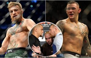Dustin Poirier Conor McGregor (© Sergei Belski © Stephen R. Sylvanie-USA TODAY Sports)
