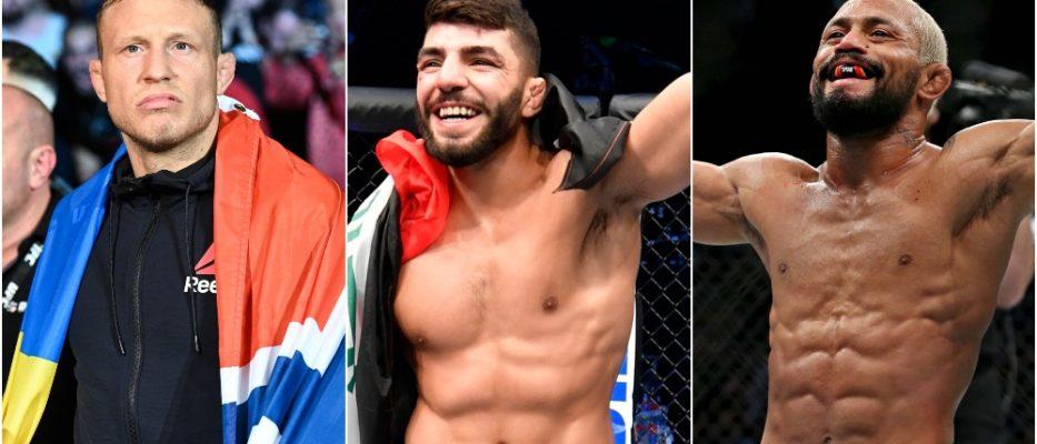 Jack Hermansson Amir Albazi UFC Fight Island (© Per Haljestam & © Handout Photo &-USA TODAY Sports)