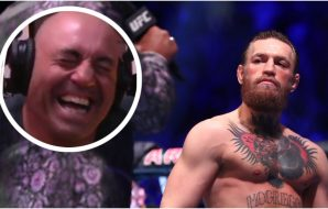 Joe Rogan Conor McGregor (© Mark J. Rebilas-USA TODAY Sports)