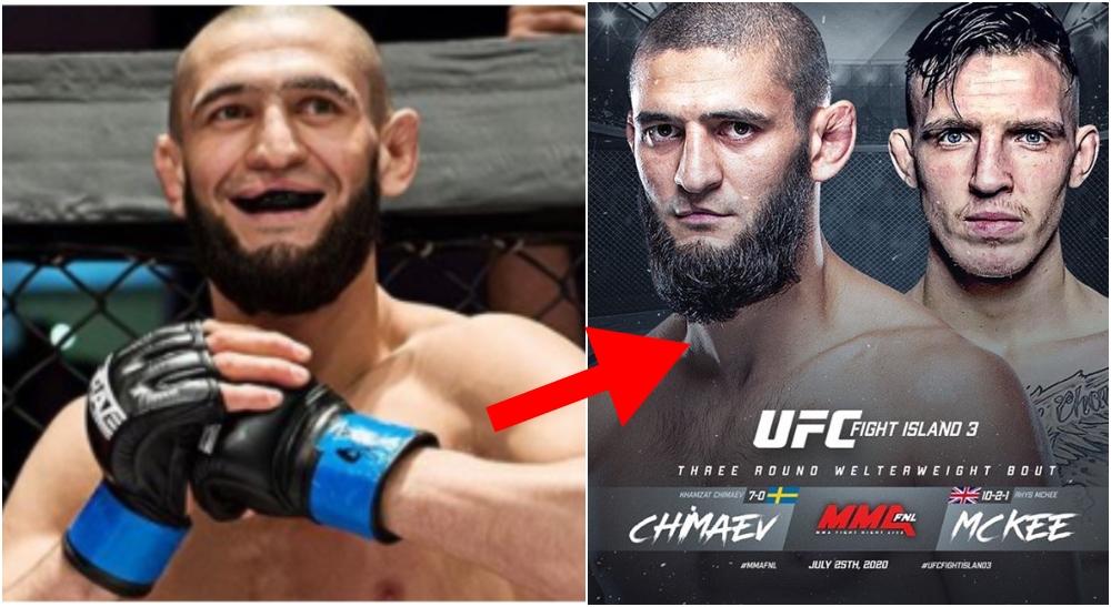Khamzat Chimaev Rhys McKee UFC MMA