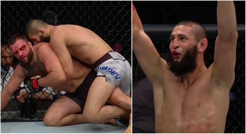 Khamzat Chimaev UFC MMA Debut Dominerar