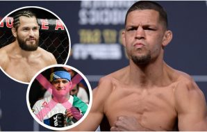Nate Diaz Jorge Masvidal Gilbert Burns (© Gary A. Vasquez © Stephen R. Sylvanie-USA TODAY Sports)