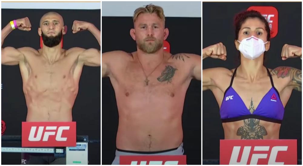 UFC MMA Alexander Gustafsson Khamzat Chimaev Pannie Kianzad weigh in