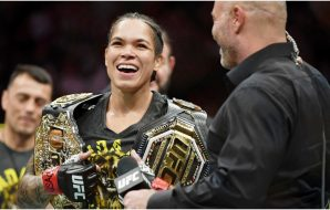 Amanda Nunes (© Stephen R. Sylvanie-USA TODAY Sports)