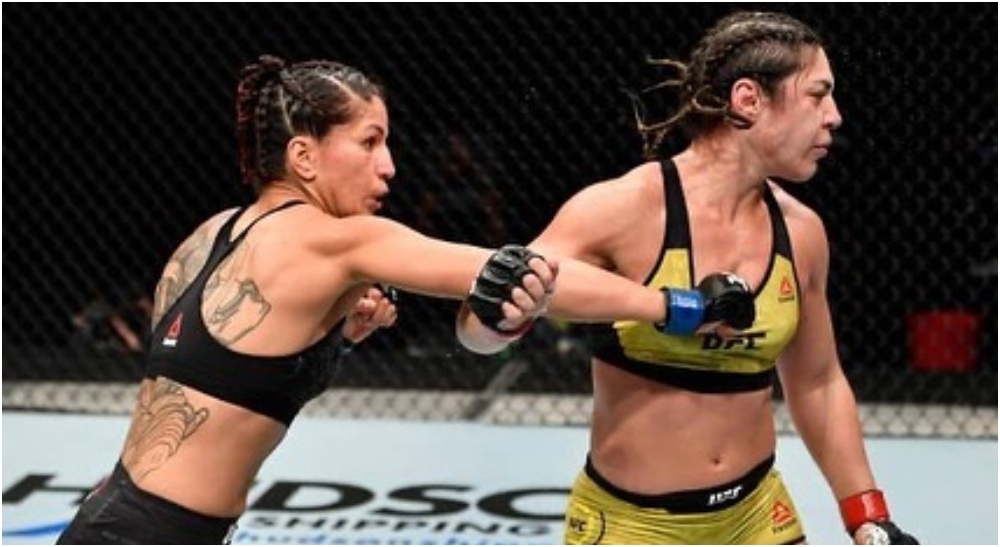 UFC-veteranerna Bethe Correia och Evan Dunham får sparken (Picture via panniekianzad)