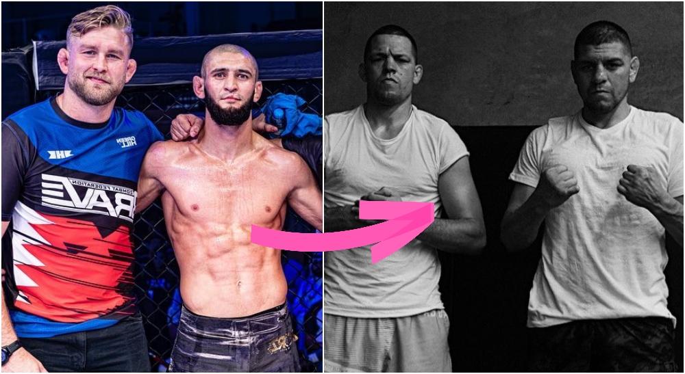 Khamzat Chimaev, Nate Diaz, Nick Diaz (Instagram)