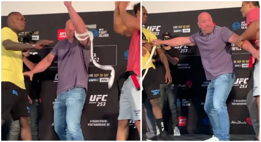 UFC 253 Invägning Paulo Costa Israel Adesanya