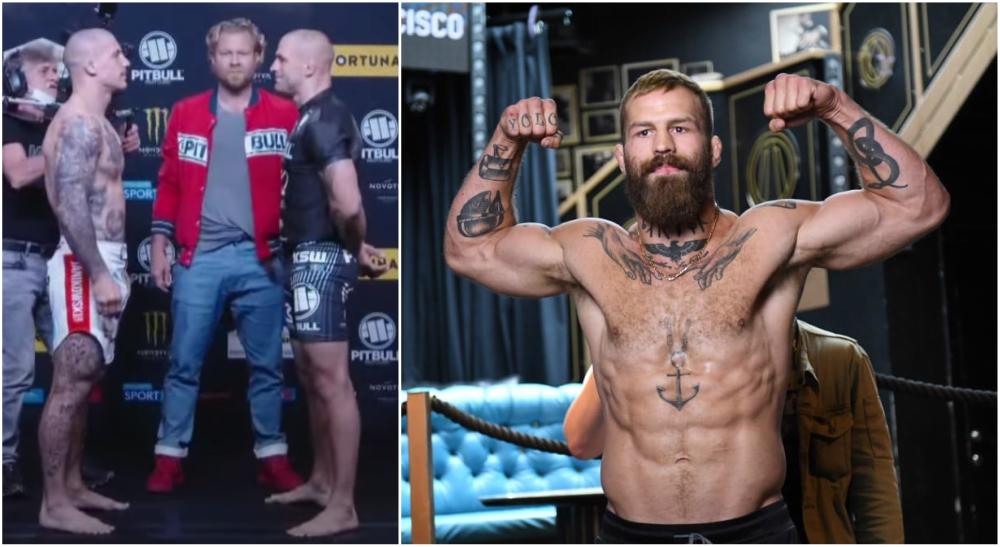 Andreas Bane Gustafsson MMA KSW staredown