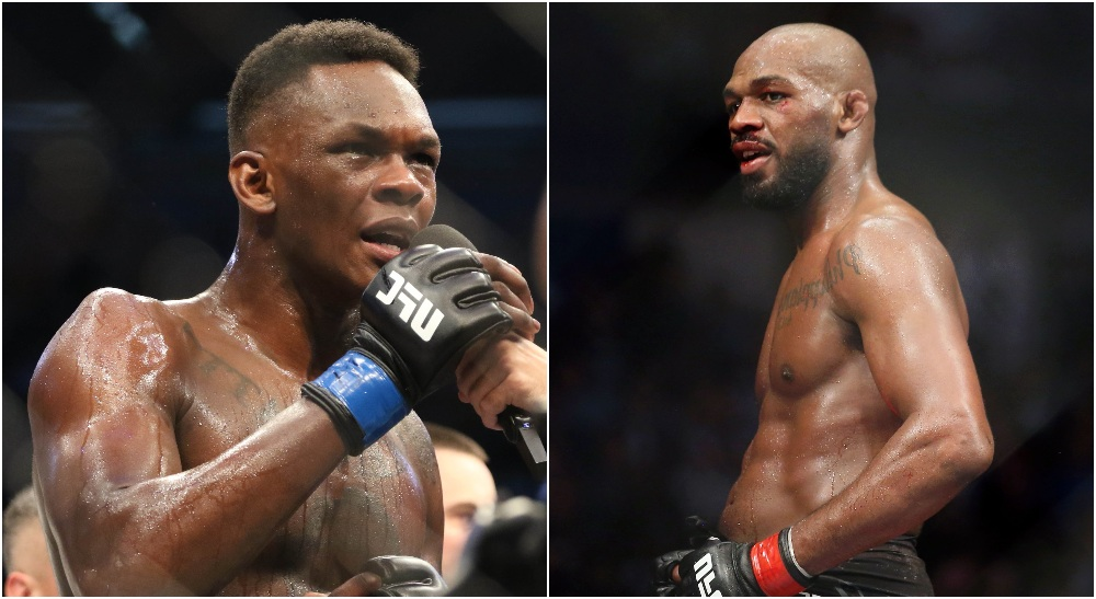 Israel Adesanya, Jon Jones (© Jasmin Frank & © Thomas Shea-USA TODAY Sports)