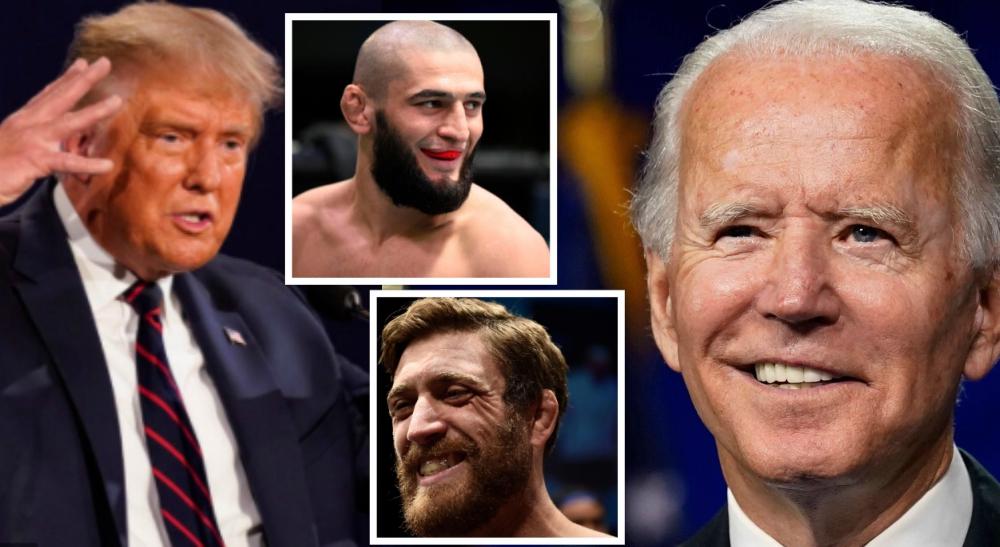 Khamzat Chimaev Donald Trump Joe Biden Gerald meerschaert