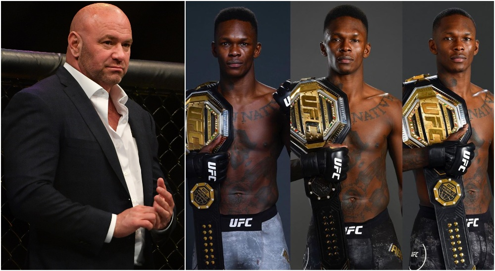 Dana White Israel Adesanya (© Jasen Vinlove-USA TODAY Sports)