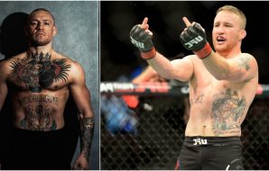 Conor McGregor Justin Gaethje (IG_ thenotoriousmma + © Steven Branscombe-USA TODAY Sports)