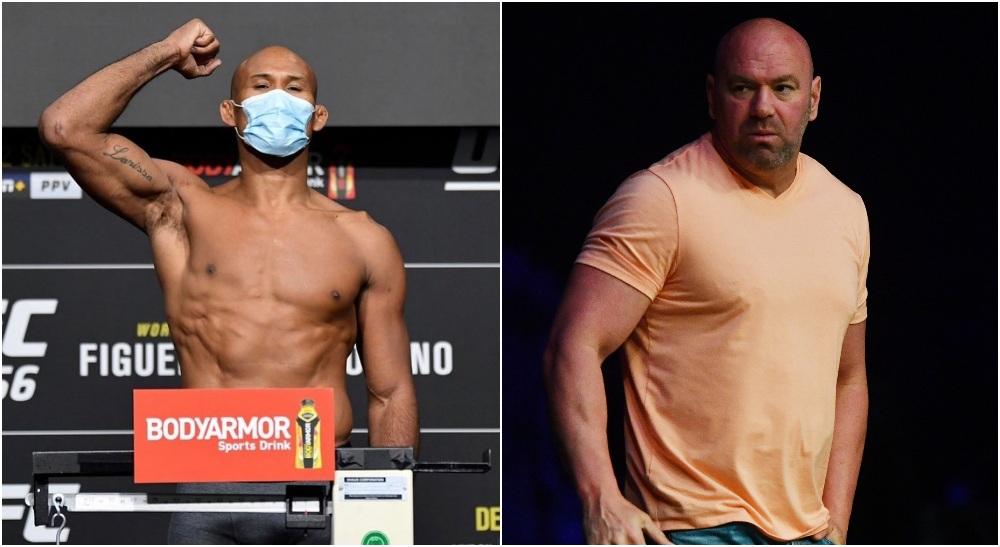 Covid UFC Ronaldo Jacare Souza Dana White (Instagram_ ronaldojacare + © Jasen Vinlove-USA TODAY Sports)
