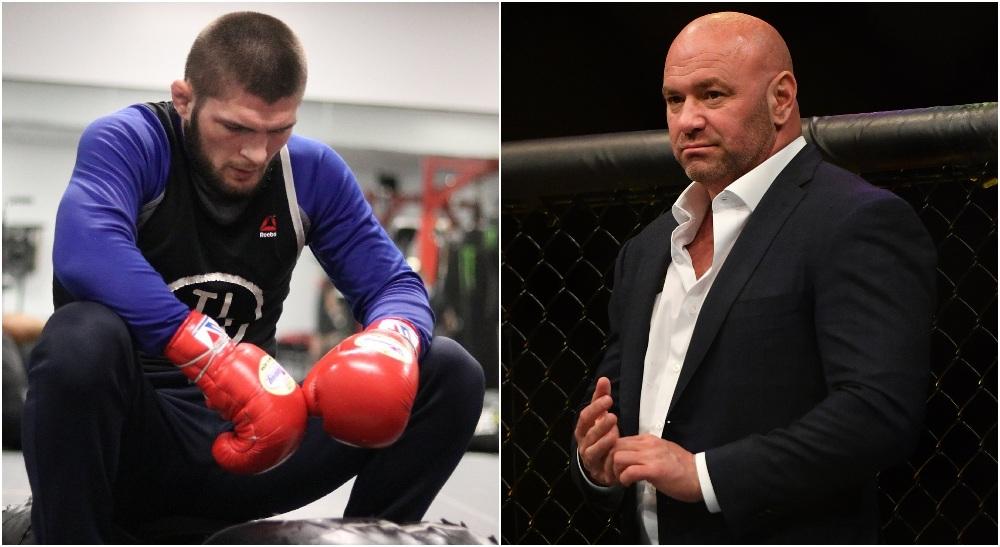UFC Dana White Khabib Nurmagomedov (© Mark J. Rebilas-USA TODAY Sports + IG_ khabib_nurmagomedov)