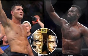 Chris Weidman Uriah Hall (© Brad Penner, © Kyle Terada-USA TODAY Sports