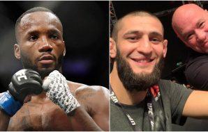 MMAnytt Leon Edwards Khamzat Chimaev (© Adam Hagy-USA TODAY Sports + IG_ khamzat_chimaev))
