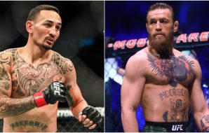 Max Holloway Conor McGregor ( © Sergei Belski, © Mark J. Rebilas-USA TODAY Sports)