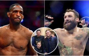 Neil Magny Michael Chiesa Umar Nurmagomedov (© Stephen R. Sylvanie, Gary A. Vasquez-USA TODAY Sports