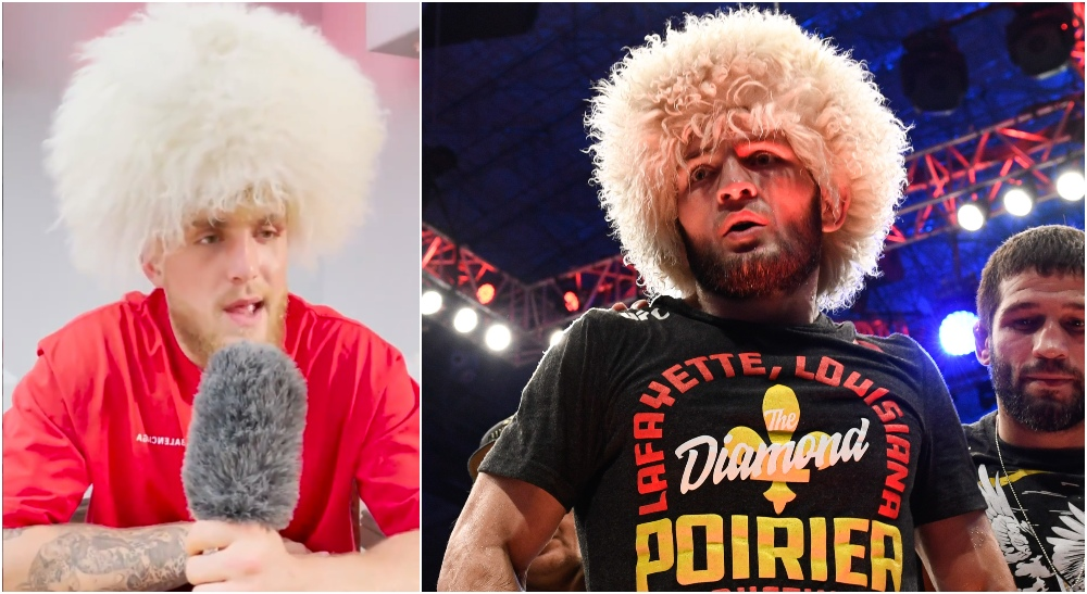Jake Paul Khabib Nurmagomedov (© Per Haljestam-USA TODAY Sports)