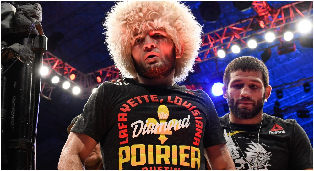 Khabib Nurmagomedov (© Per Haljestam-USA TODAY Sports)