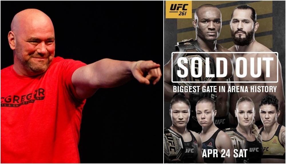 Dana White UFC 261 (© Mark J. Rebilas-USA TODAY Sports)