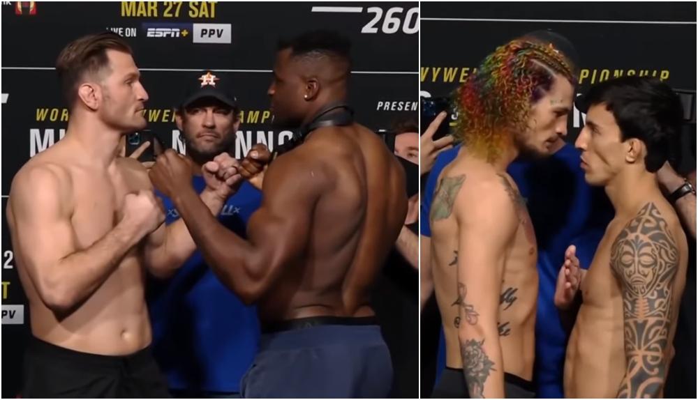UFC 260 staredowns