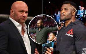 Dana WHite Francis Ngannou Jon Jones © David Berding-USA TODAY Sports