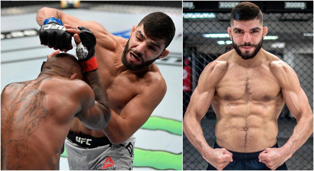Amir Albazi (Jeff Bottari_Zuffa LLC via USA TODAY Sports + Instagram @AmirAlbazi)