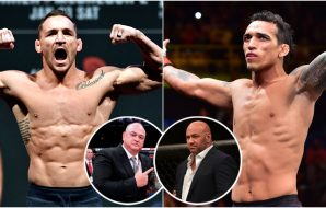Chandler, Oliveira, Scott Coker, Dana White (©Bottari, Silva, Jasen Vinlove-USA TODAY Sports)