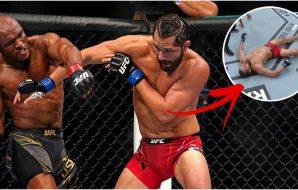 UFC 261 Kamaru Usman Jorge Masvidal (© Jasen Vinlove-USA TODAY Sports)