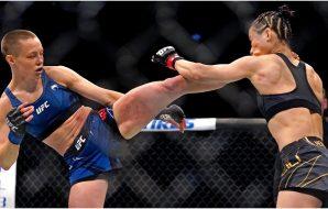 UFC 261 Rose Namajunas Zhang Weili UFC 261 (© Jasen Vinlove-USA TODAY Sports)