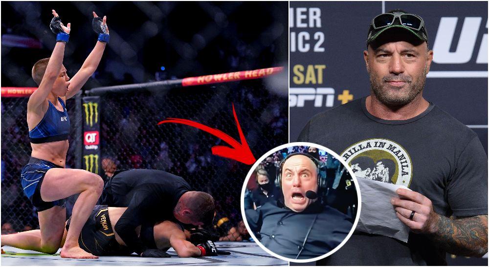 UFC 261 Joe Rogan Rose Namajunas (© Jasen Vinlove-USA TODAY Sports)